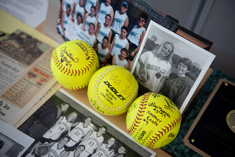 Sports memorabilia brought back memories for several alumni during the 2018 Athletics Hall of Fame celebration.