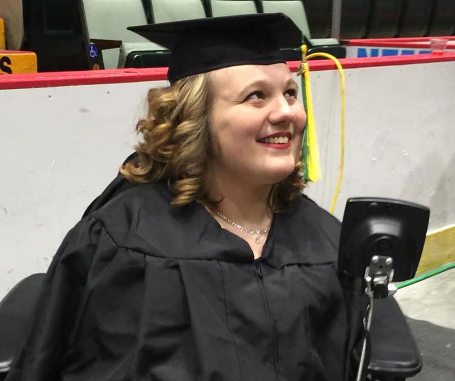 SUNY Adirondack graduate Brooke Krywy Lacy, who is a wheelchair-dependent individual, has had her only means of transportation taken out of commission.