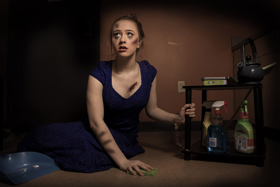 'Cinderella,' a photo by Taylor Denton, is featured in the student show 'through the viewfinder'  at the Student Center.