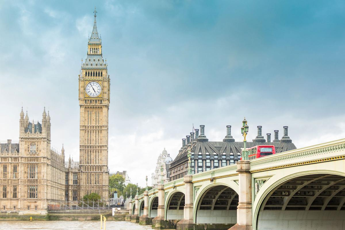 Photo of London with Big Ben as the main image