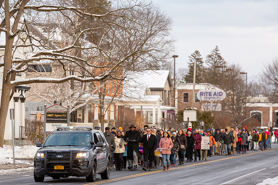 Martin Luther King March in Glens Falls