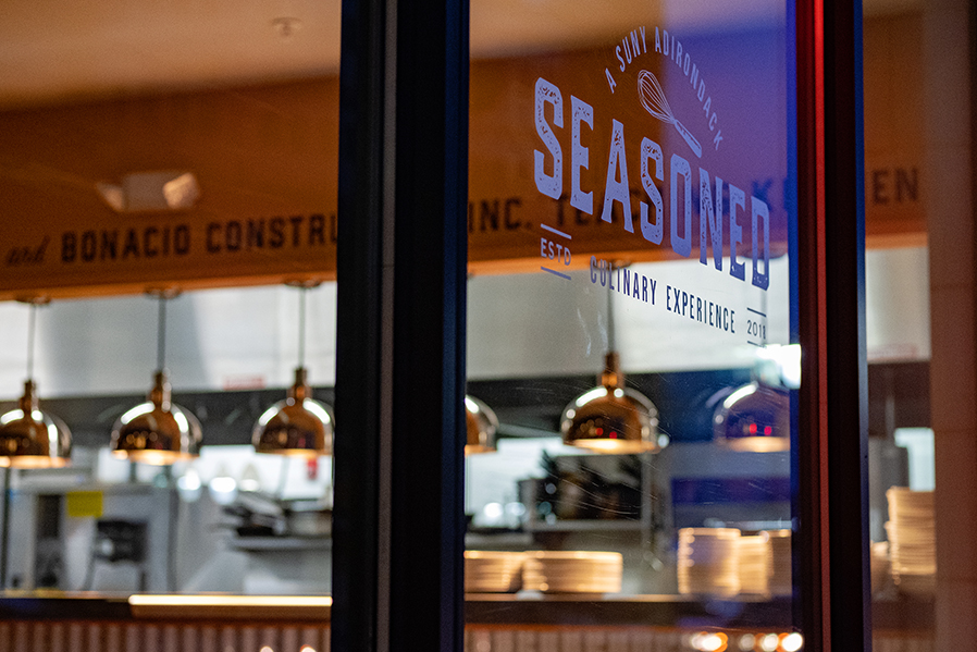 SUNY Adirondack's student-run restaurant, Seasoned, is located at 14 Hudson Ave. in Glens Falls.