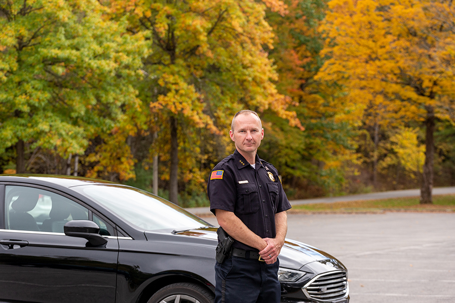 SUNY Adirondack alumnus Shane Crooks is the new Saratoga Springs Chief of Police.