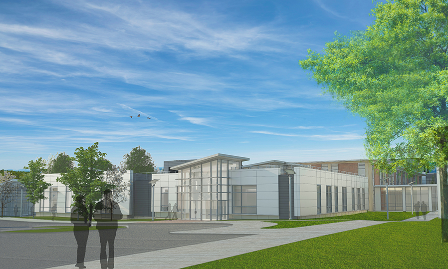 Architect's rendering of Regional Workforce Readiness Center.