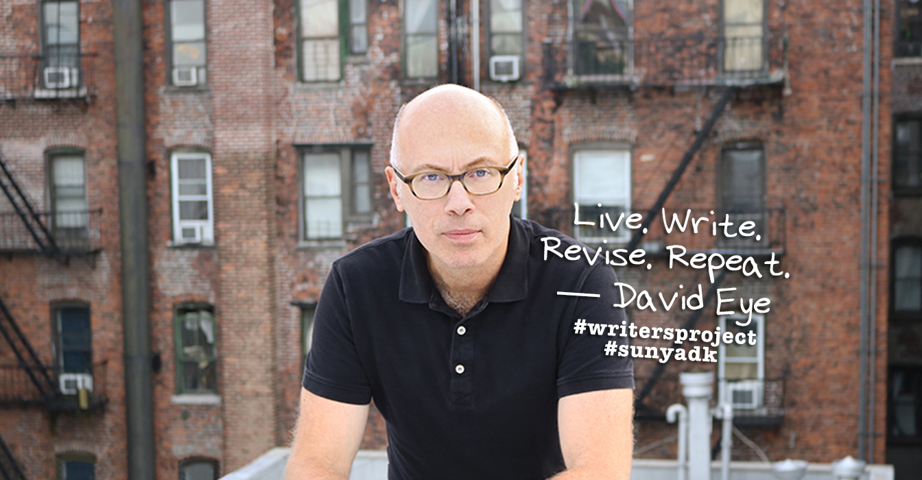 Photo of author David Eye with quote: Live.Write.Revise.Repeat.