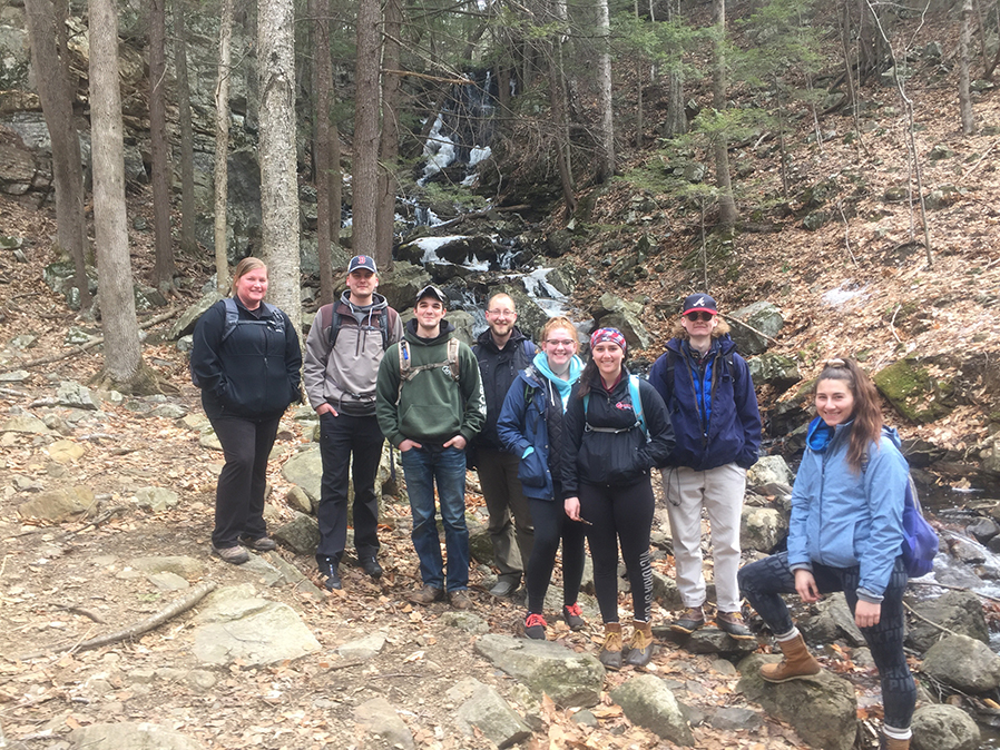 Adventure Sports students were out hiking well before the last snow melted.