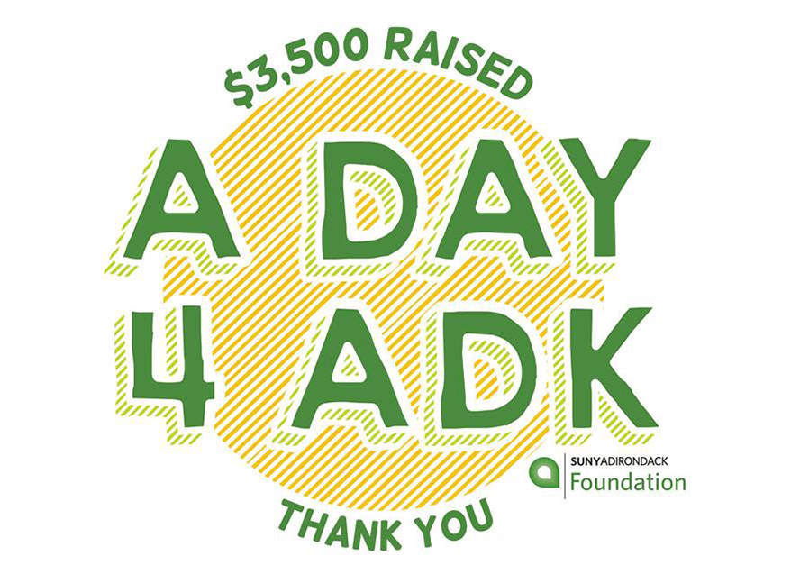 The SUNY Adirondack Foundation held a special ADay4ADK fundraiser, using this logo.