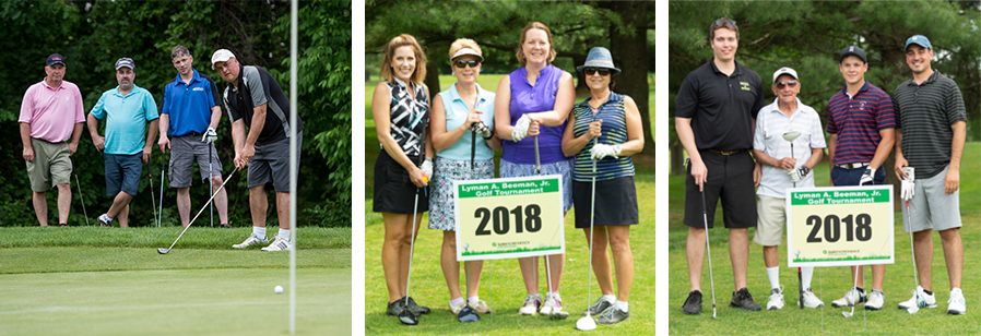 Scenes from the The 29th annual Lyman A. Beeman Jr. Golf Tournament, a fundraiser for the SUNY Adirondack Foundation.