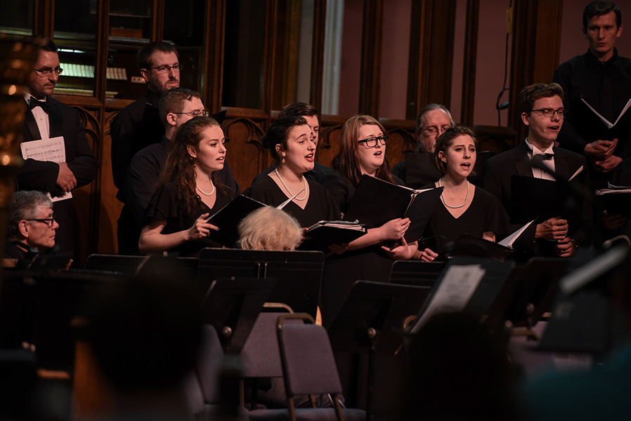 The SUNY Adirondack Chorale performs in concert.