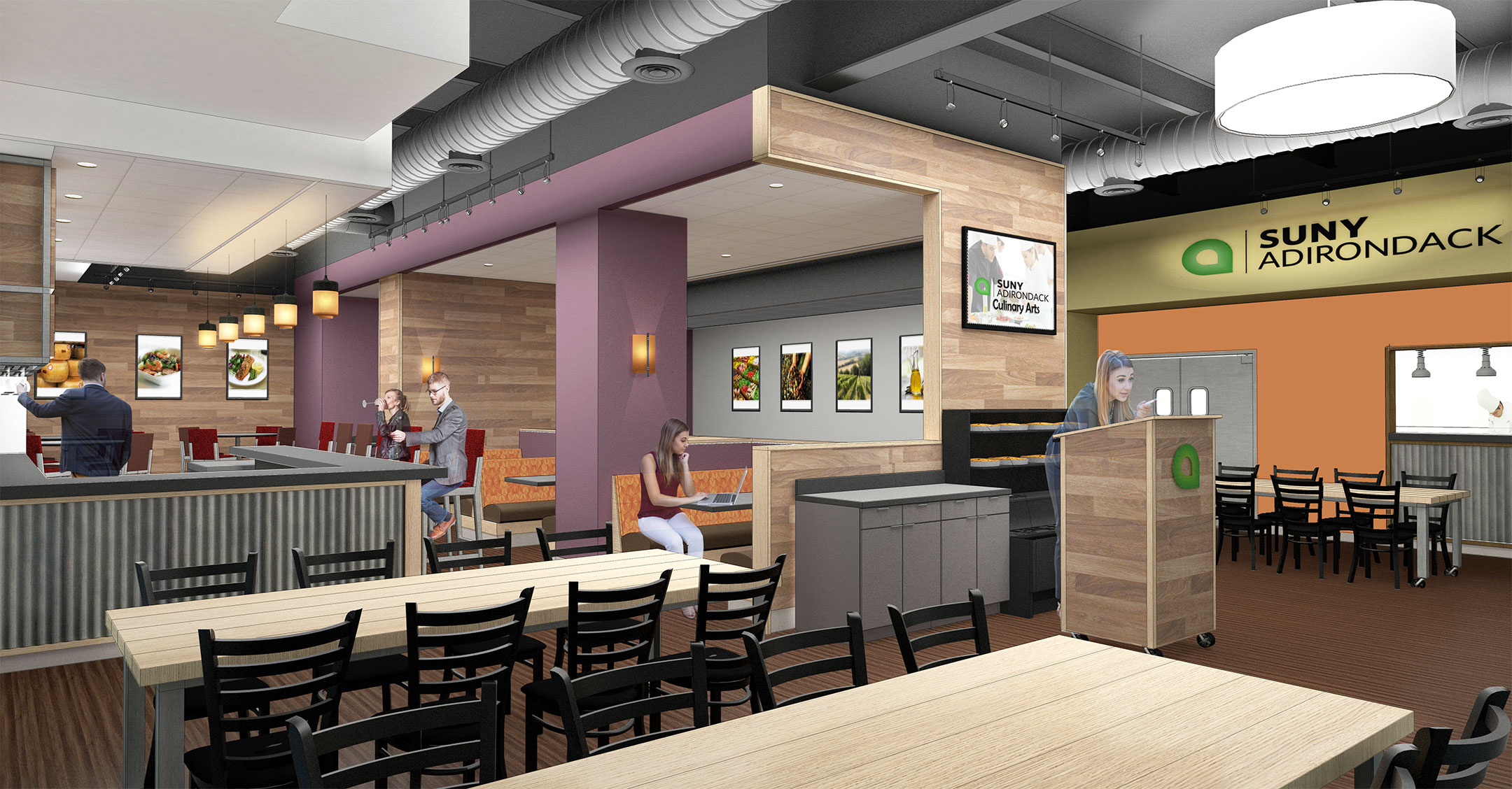 New SUNY Adirondack Culinary Arts Center schematic
