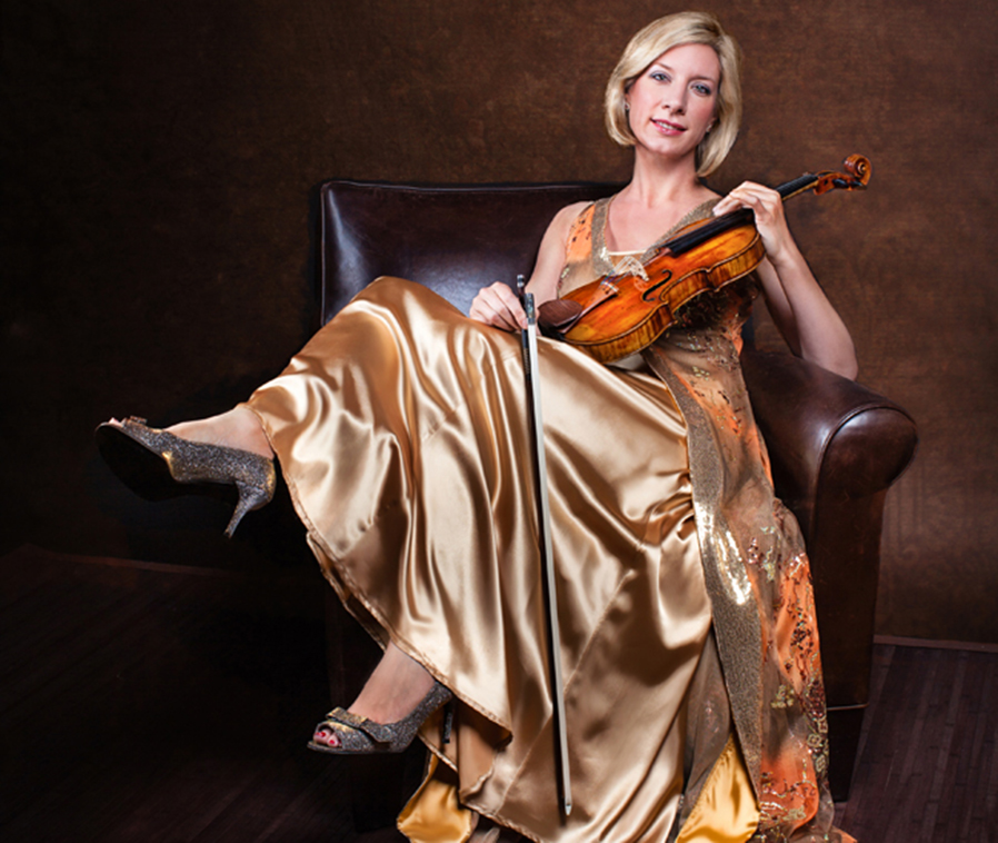 Violinist Elizabeth Pitcairn will perform March 21 in the SUNY Adirondack Theatre.