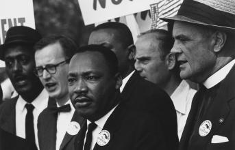 Dr. Martin Luther King Jr. at Civil Rights March on Washington D.C.