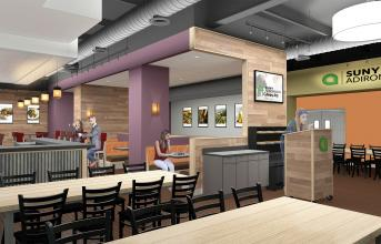 New SUNY Adirondack Culinary Arts Center schematic