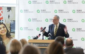 U.S. Senator Charles Schumer at SUNY Adirondack