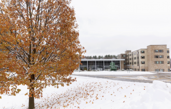 Winter scene on campus