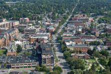 aerial shot of Saratoga Springs