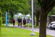 students walking on cmapus