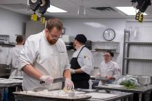 Culinary Arts students in kitchen