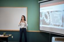Powerpoint presentation during a meeting