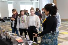 students discuss historic artifacts