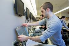 student networking computers