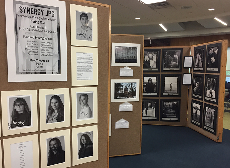 The student photo show 'Synergy' runs through May 3 in the Student Center.